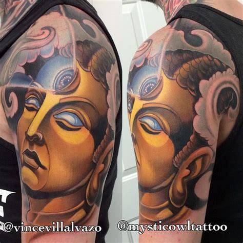 mystic owl tattoo the awaken one by vince villalvazo tattoos