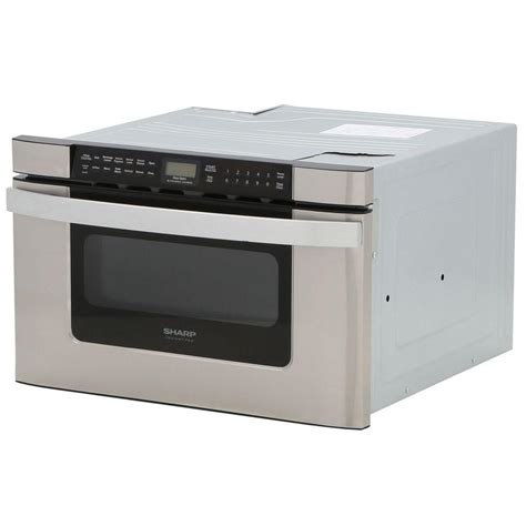 sharp 24 in w 1 2 cu ft built in microwave drawer in