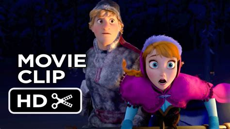 frozen film wolf scene frozen movie clip wolf chase 2013 kristen bell