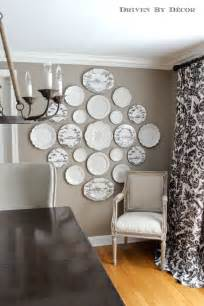 the easy how to for hanging plates on the wall driven