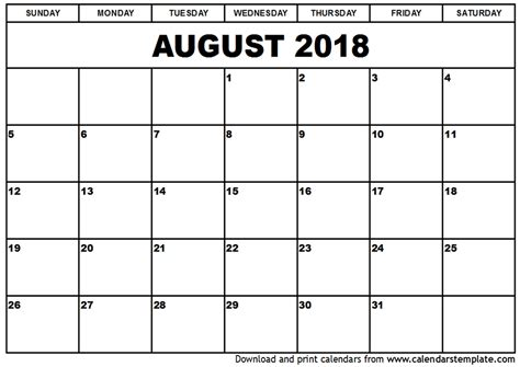 printable calendar 2018 design august 2018 calendar template printable 2017 calendars