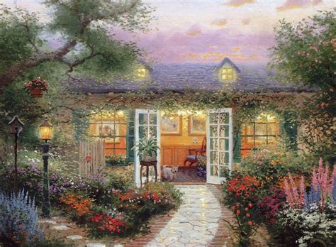Home Interiors Kinkade Prints Hd Original Prints Paintings On Canvas