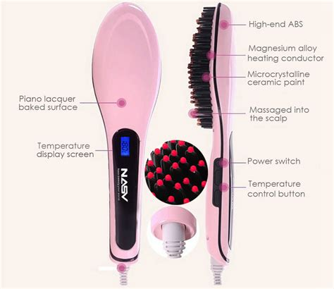 Hair Dryer Comb Straightener nasv 100 hair comb hair brush dryer fashion