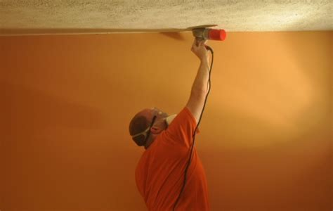 How To Remove A Stippled Ceiling by How To Remove A Stipple Ceiling By Sanding One Project