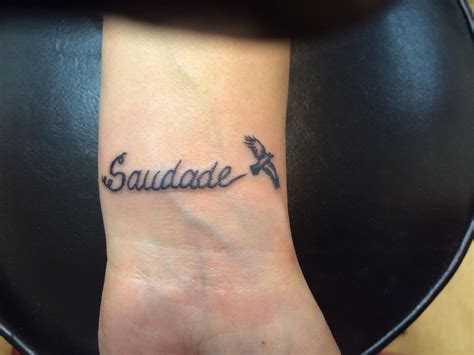 saudade tattoo saudade saudade bird passarinho wrist