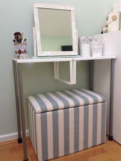 ikea dressing table hack turn variera shelf inserts into a gorgeous dressing table