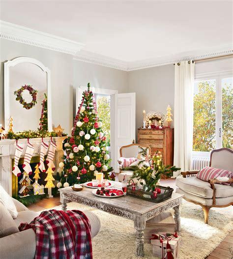 arbol de navidad blanco decorado una navidad en rojo y verde 15 ideas para decorar tu casa