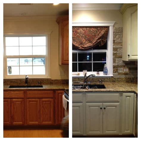 Chalk Paint Kitchen Cabinets Before And After | my kitchen update annie sloan chalk paint on cabinets