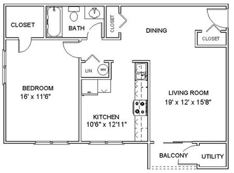 one bedroom blueprints this is a nice simple floor plan for a one bedroom