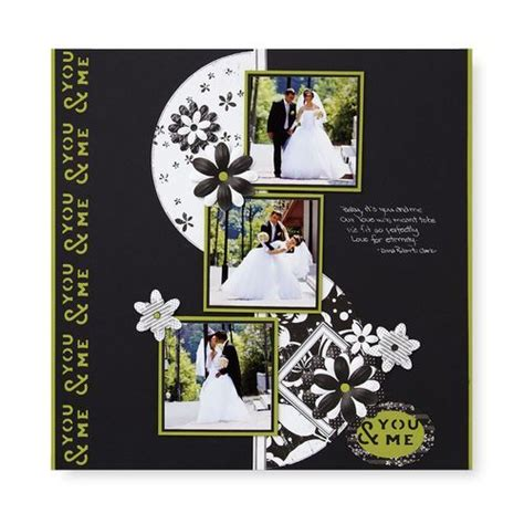 Wedding Aisle Of Memories by Black White Scrapbooking Layout Scrapbook Pages