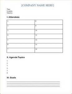 Toolbox Meeting Minutes Template by Free Meeting Agenda Template Odds Ends