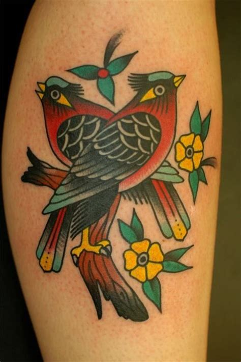 tattoo old school bird significado traditional bird and flower tattoos get inspired