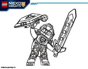 coloriage clay nexo knights pour colorier coloritou