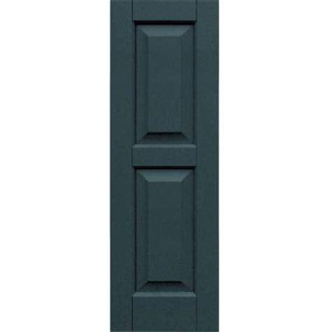 winworks wood composite 12 in x 37 in raised panel shutters pair 663 roycroft pewter 51237663
