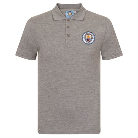 Polo Shirt Manchester City P02 manchester city fc football soccer official gift mens crest polo shirt