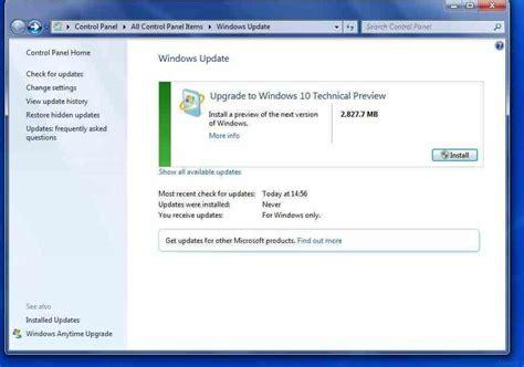 install windows 10 and 7 windows update to windows 10 arran wicher