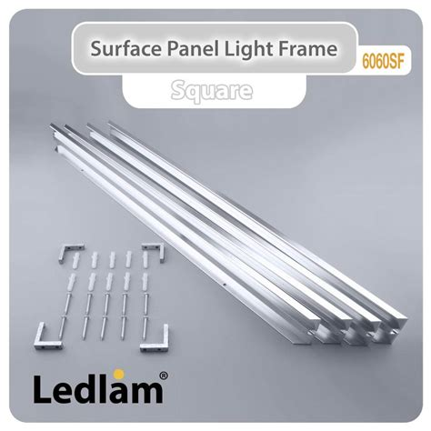 how to attach lights to surface surface led panel light frame 6060sf alu