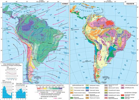 america rainfall map climate map of south america