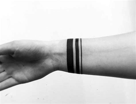 mens wrist tattoo ideas 50 black band designs for bold ink ideas