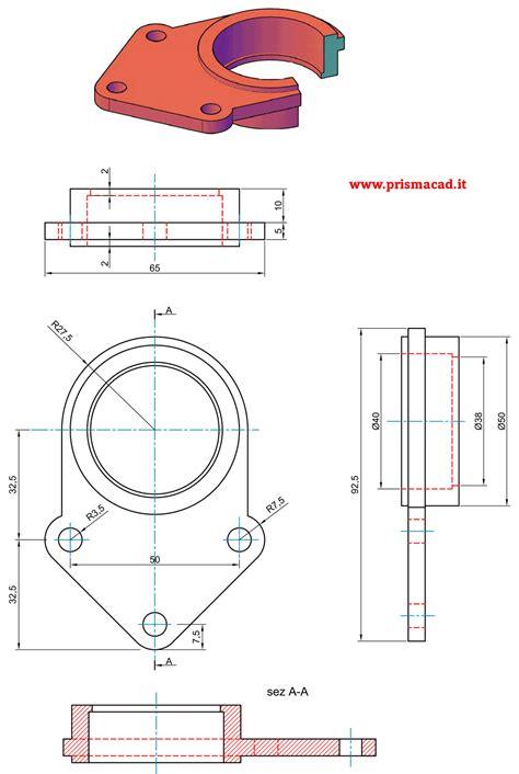 disegno meccanico dispense ghiera di bloccaggio lock nut prismacad