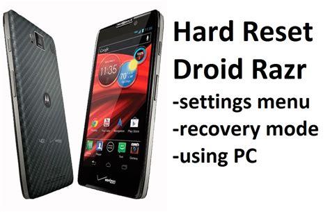 reset voicemail password motorola razr hard reset droid razr settings menu recovery mode and