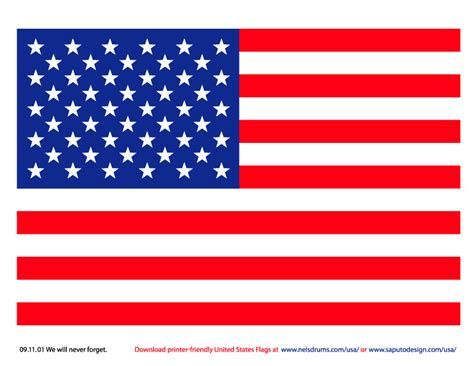 printable flag of us printer friendly american flags