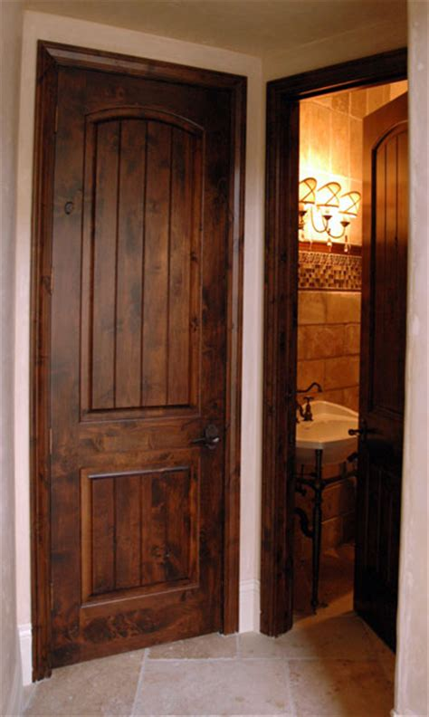 Arts And Craft Wood Interior Doors With V Grooved Panels Staining Wood Doors Interior