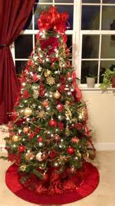 red and gold themed christmas tree christmas pinterest