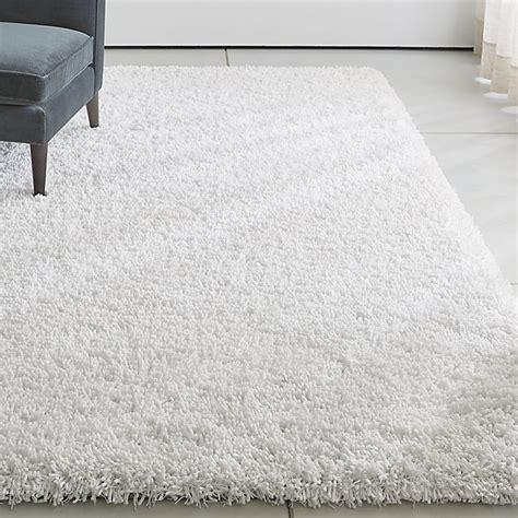 white rugs 8x10 white shag rug crate and barrel