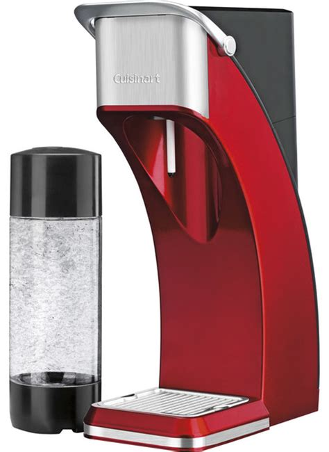 red small kitchen appliances cuisinart sparkling beverage maker red contemporary