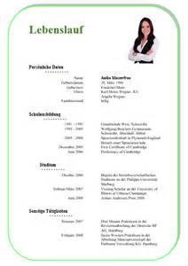 Lebenslauf Muster Mit Bild Kostenlose Lebenslauf Vorlagen Office Lernen