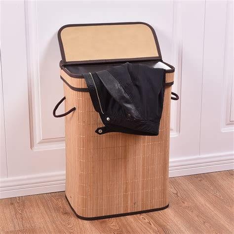 laundry with lid bamboo laundry her with lid laundry organize