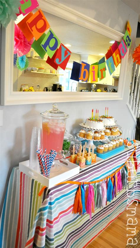 simple net for party decoration suburbs craft birthday