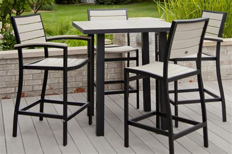 patio high top table excellent black and white square