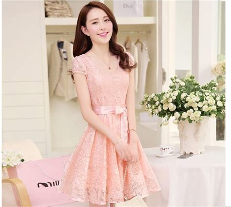 Dress Anak Korea Pink Baloon dress casual wanita korea summer style v neck sleeve size s light blue jakartanotebook