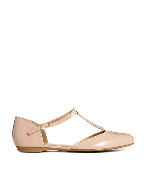 t flat shoes new look new look jupiter t bar flat shoes at asos