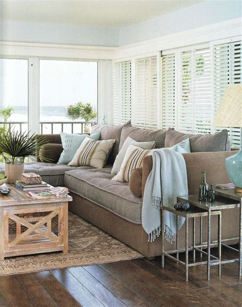 beach living rooms coastal style pale blue beige htons style