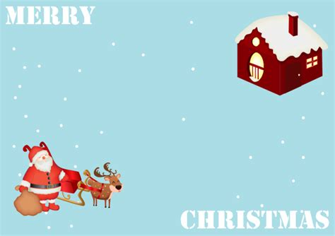free santa card templates free customizable business cards