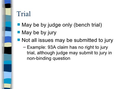 stipulated bench trial understanding a civil case