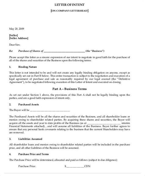 Letter Of Intent For Event Company 37 sle business letters in pdf