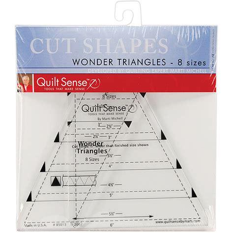 quilt sense triangles ruler 8 sizes walmart