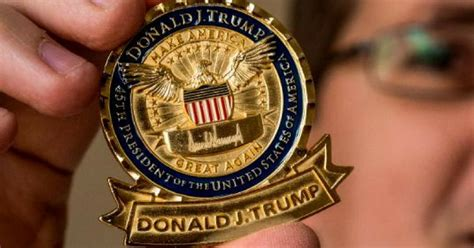 donald trump caign donald trump gave the presidential coin a makeover and