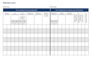 sample forms and templates medication record