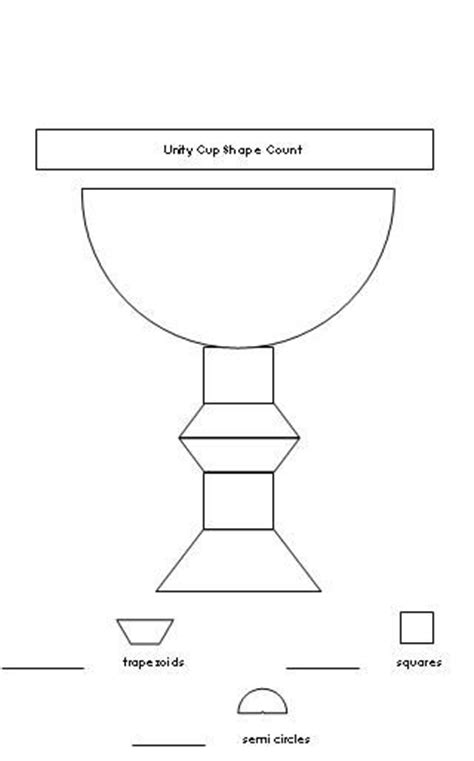 printable kwanzaa template kwanzaa unity cup shape count worksheet from making