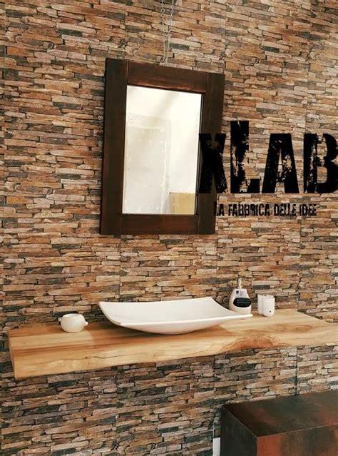 mensole per lavabo da appoggio mensola piano lavabo legno di castagno kimberley xlab