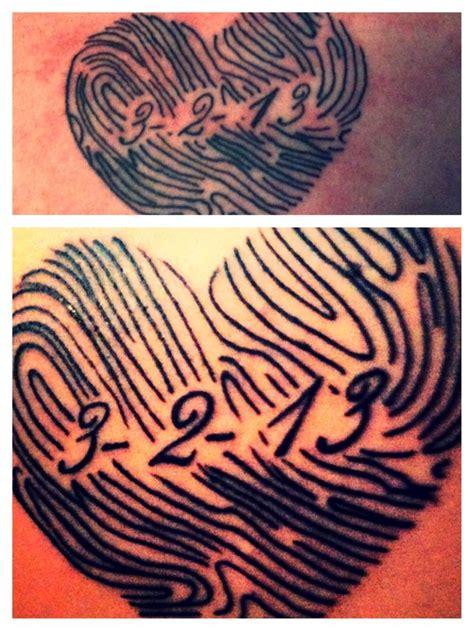 tattoo fingerprint heart 25 best ideas about fingerprint tattoos on pinterest