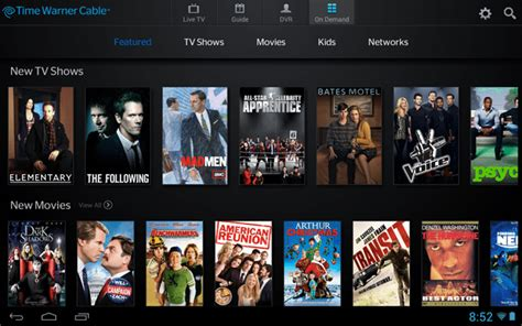 time warner cable now offering on demand and live tv from