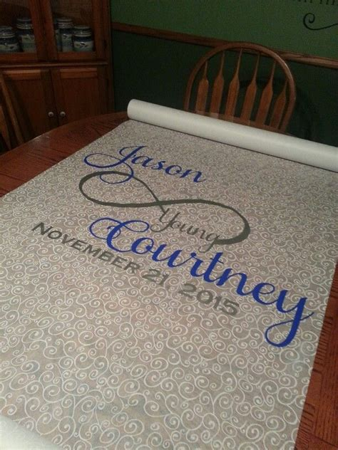 Vinyl Wedding Aisle Runner by Vinyl Design On A Paper Aisle Cloth For Your Wedding Use