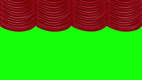 green screen curtain animation of opening red curtain on green screen hd