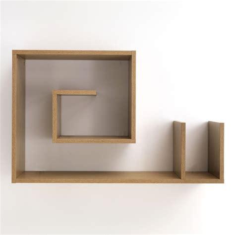 mensola a muro mensola a muro snail w legno rovere 90 x 56 cm a forma di